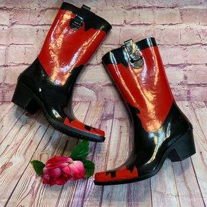 Corkys Womens Size 9 Cowboy Boot Rain Boots